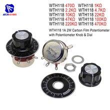 470R 1K 2,2 K 4,7 K 10K 22K 47K 100K 220K 470K Ohm 3Pin линейный переход поворотный регулируемый резистор потенциометра для Arduino w/cap Dial