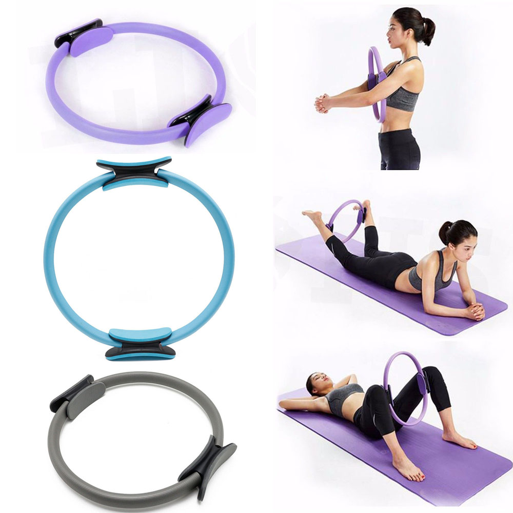 Resistance Pilates Rings Magic Circle Body Sport Fitness Weight Exercise Gymnastic Aerobic Fitness Wheel Handle Yoga Kit Ring