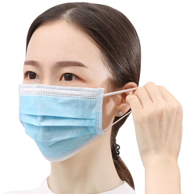 Disposable Face Medical Masks Surgical 3-Ply Nonwoven 100/150/200PCS Elastic Mouth Soft Breathable Flu Hygiene Face 4