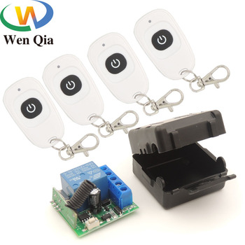 цена на 433 MHz rf wireless Remote Control DC 12V 10A 1CH Relay Receiver and transmitter for Electric Door/Signal transmission