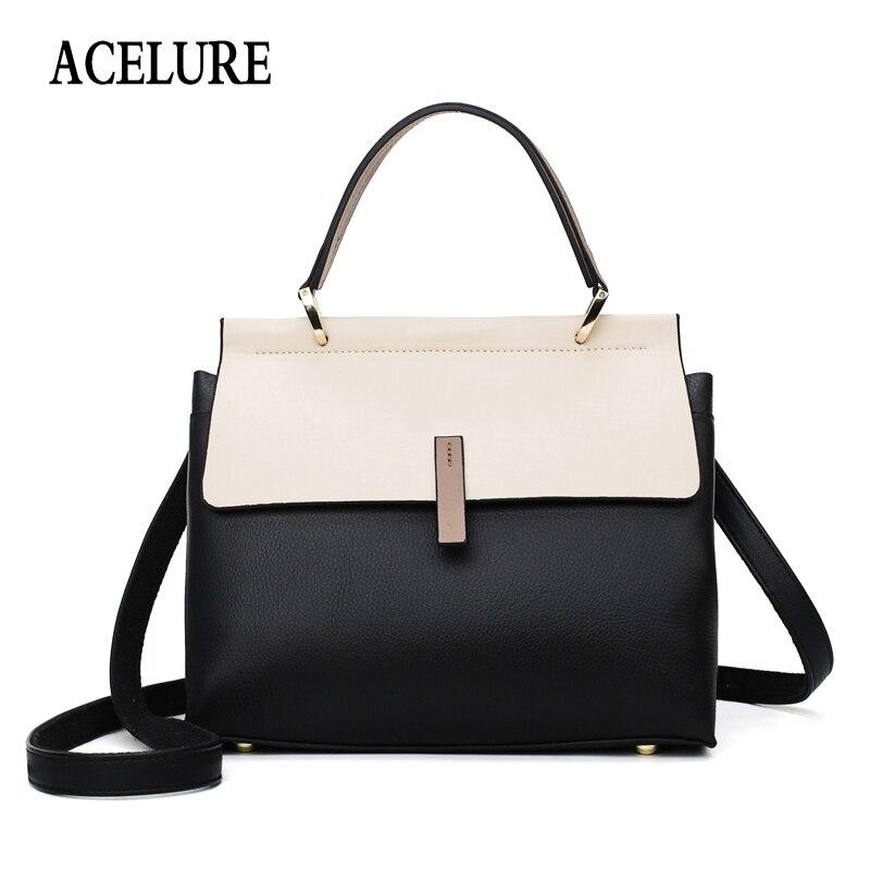 ACELURE Totes Bags Women Large Capacity Handbags Women PU Shoulder Messenger Bag Female Retro Daily Totes Lady Elegant Handbags