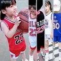 Летняя одежда для мальчика, баскетбольный костюм, детская одежда для девочек, спортивные костюмы: футболка + шорты, 2 предмета в комплекте, де...