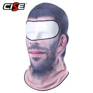 Image 3 - 3D Clown Beard Man Motorcycle Balaclava Full Face Mask Cover Helmet Liner Ski Paintball Snowboard Biker Riding Hood Men Women