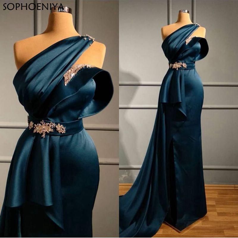 New Arrival Robe Soiree Dubai Evening Dresses 2020 Muslim Evening Dress Party Vestido Festa Longo