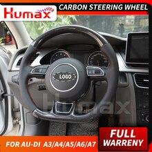 Для Audi A3 A4 A5 A6 A7 Q3 Q5 S серия RS углеродное волокно рулевое колесо Универсальная замена Углеродные аксессуары колесо