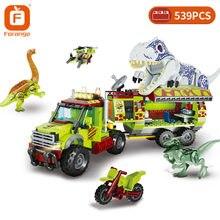 Forange Dinosaur Creator Building Block Jurassic Dinosaur Animal World Park Explore Bricks Toys Birthday Gift For Children