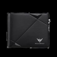 WILLIAMPOLO portefeuille Slim en cuir véritable pour hommes, Mini porte monnaie en cuir véritable, Design décontracté à deux volets