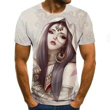 Summer fashion 3d print short sleeve men and women t-shirt casual hip hop clothes summer top