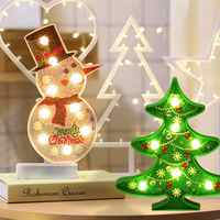 2019 New DIY LED Diamond Painting Night Light Christmas Tree Snowman Cross Stitch Embroidery Special Shape Wedding Decoration