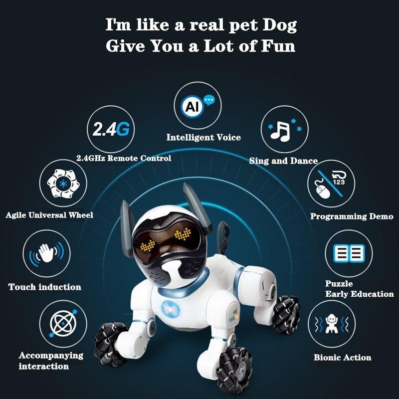 Умные роботы с голосовым управлением, детские развивающие игрушки, радиоуправляемый робот, собака, поющий танцующий робот, игрушки для дете... - 4