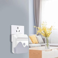 2 LED Night Light Dimmable Plug-In Night Light Mini Wall Lamp Energy Saving Lamp Home Bedroom Kitchen Corridor Bathroom Cold Whi(China)