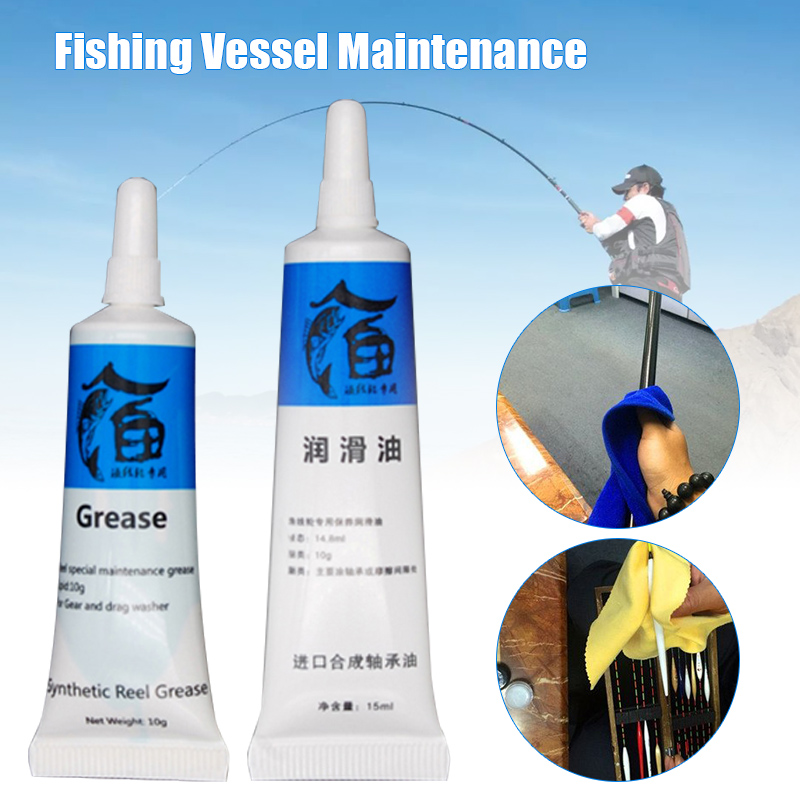 2Pcs Fish Wheel Bearing Lubricant Fishing Reels Oil Lubricant Grease for Universal Reel EDF88