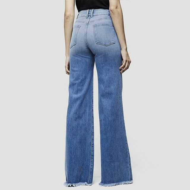 2020 High Waist Wide Leg Jeans Brand Women Boyfriend Jeans Denim Skinny Woman's Vintage Flare Jeans Plus Size 4XL Pant 4