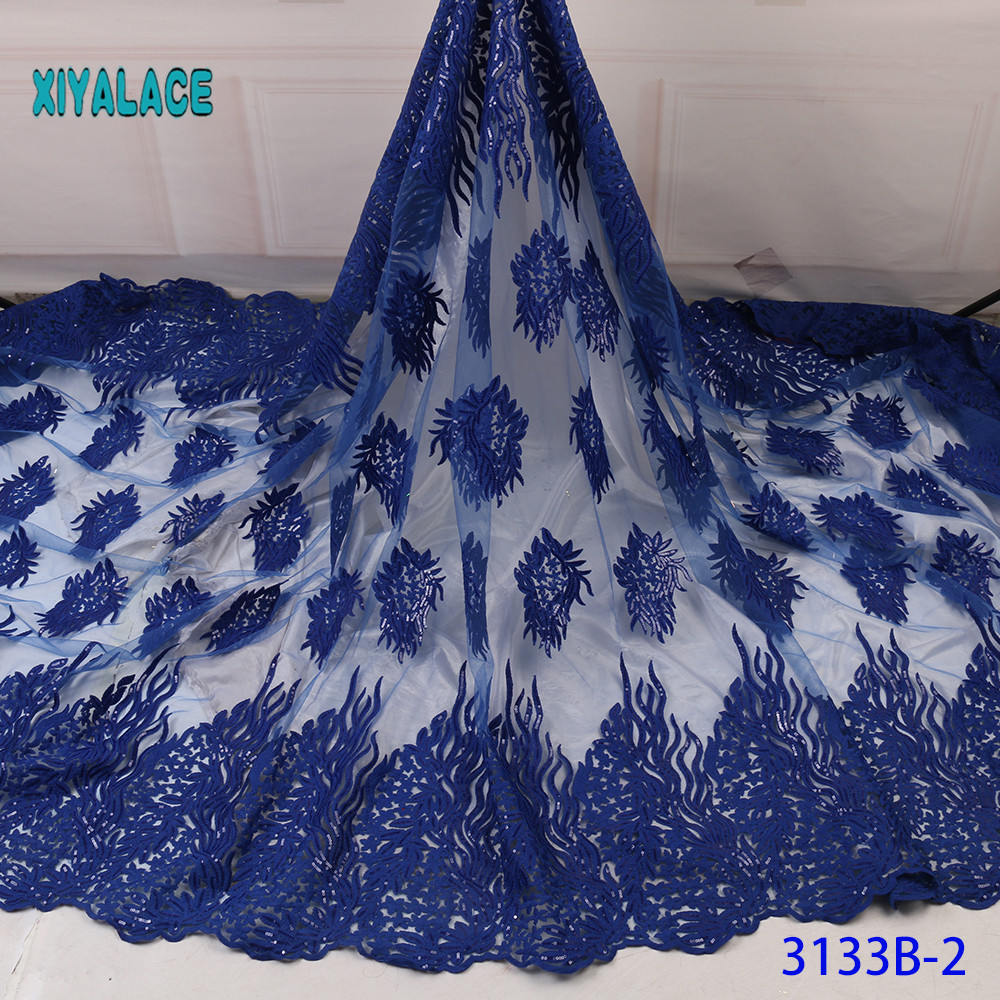 African Lace Fabric Switzerland Lace 2019 High Quality Lace Fabric Nigerian Lace Fabrics French Bridal Lace For Dress YA3133B-2