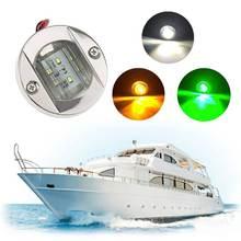 Круглый светодиодный светильник из нержавеющей стали для лодки