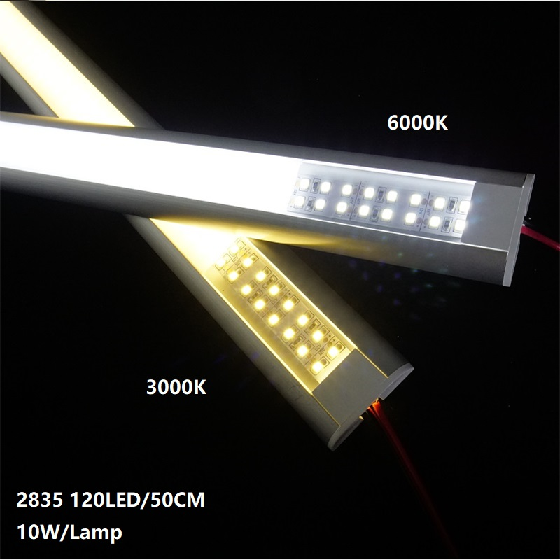 12VDC 50cm 20inch  Led Bar Light,diode Invisible Flat Profile 2835 10W Double Row 240led/meter Tape, 39MM Led Linear Hard Strip