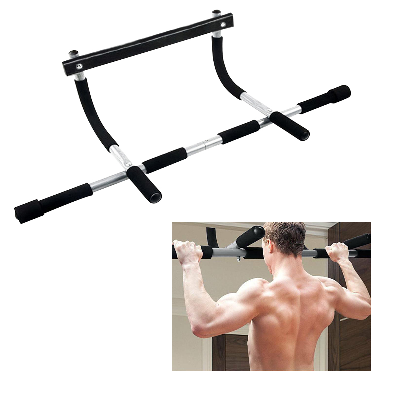 Indoor Fitness Horizontal Bar Workout Bar Chin-Up Pull-Up Bar Crossfit Sport Gym Equipment Home Fitness Equipment image