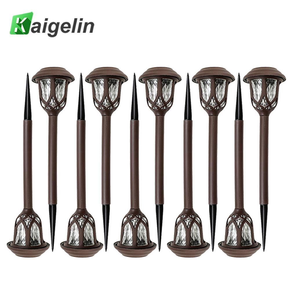 10pcs/set LED Solar Pathway Lights Outdoor Waterproof Lights Decorative Lamp For Garden Courtyard Patio Lawn Landscape Path Yard