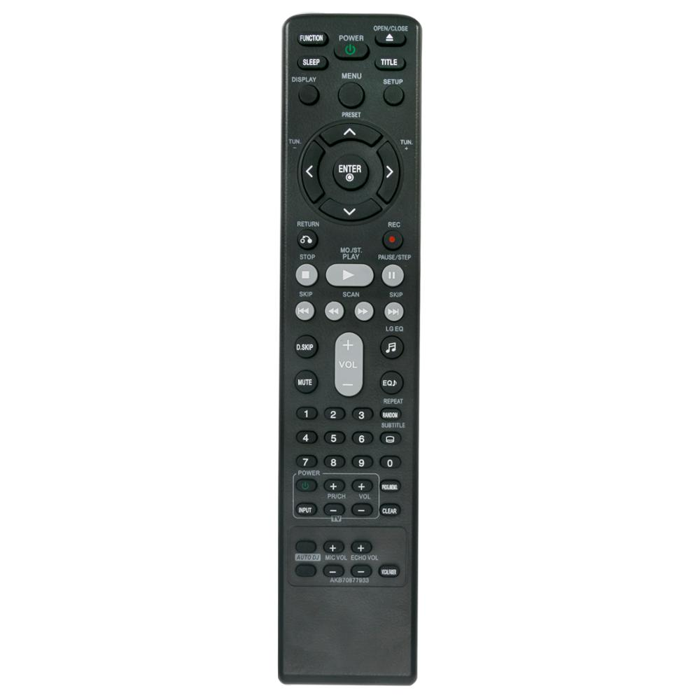 Nova AKB70877933 Substituído fit Controle Remoto para LG Sistema de Áudio MDD165K MDT355K