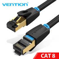 Intervento Cat8 Cavo Ethernet Rj 45 Cavo di Rete Ftp Cavo Lan Cat 7 RJ45 Patch Cavo di 10 M/20 m/30 M per Router Del Computer Portatile Cavo Ethernet