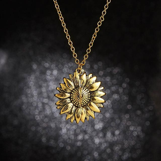 You Are My Sunshine Sunflower Necklace For Women Rose Gold Silver Color  Long Chain Sun Flower Female Pendant Necklaces Jewelry | Lazada PH