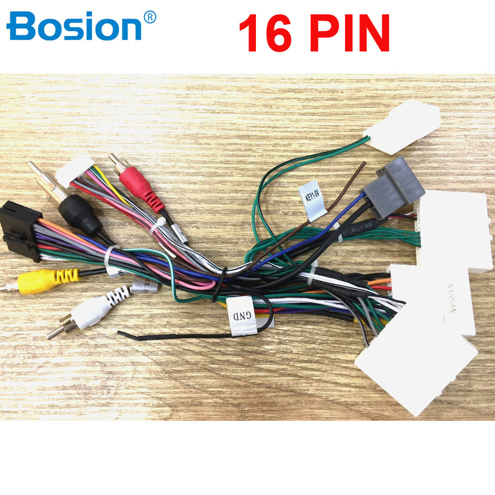 16 PIN Car ISO Radio Wire Wiring Harness Adapter For Nissan Stereo Radio Receiver Wire Harness Cable