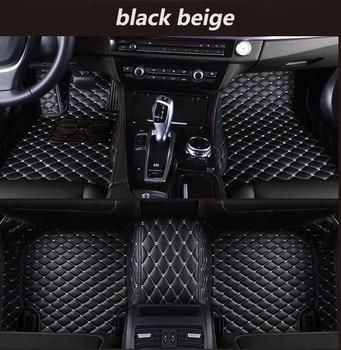 for hyundai creta ix25 2017 2016 2015 2014 car floor mats leather custom car interior auto rugs carpets mat pads car accessories Custom For Ford Focus 2 3 2005 2006-2012 2013 2014 - 2016 2017 2018 Car Floor Mats Covers Leather Interior Auto mat