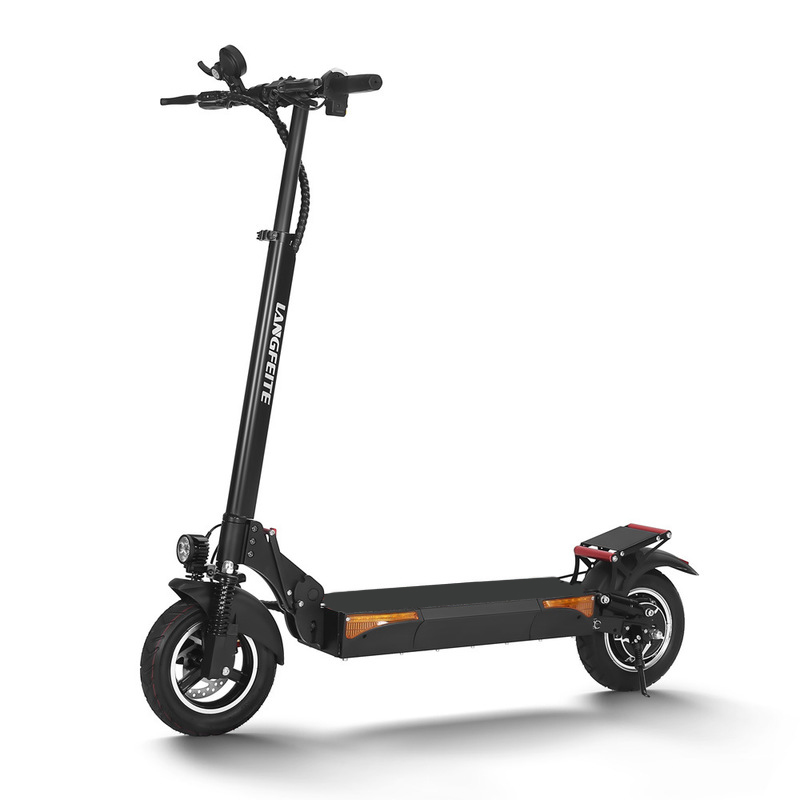 LANGFEITE L6 48V 500W 20.8Ah Folding Electric <font><b>Scooter</b></font> 10 Inch 40km/h Top Speed 60km Range Mileage Max Load 150kg EU Plug image