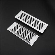 Aluminum alloy rectangular air vent grille ventilation cover Closet Shoe Wardrobe Cabinet Mesh Hole louver vent home Decor cover