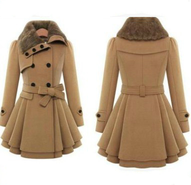 S-5XL Women's Winter Slim Long Wool Sherpa Coat Double Breasted Padded Korean Cashmere Coat England Style Plus Size Trench