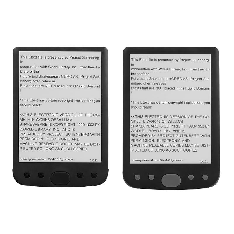 ALLOYSEED BK6025 ebook reader e-ink 6 inch e-Book Resolution 800x600 Built-in Front Light eBook eReader 8GB Memory e Book Reader image