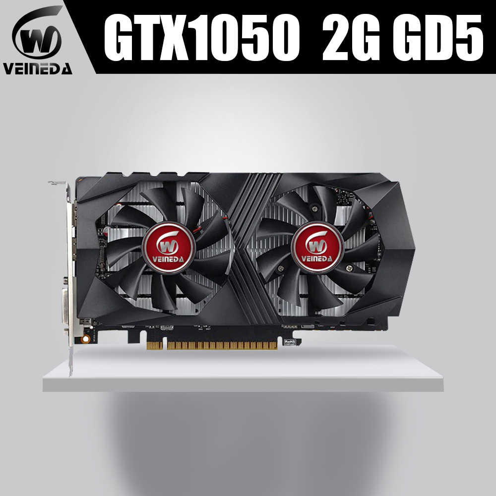 VEINEDA بطاقة جرافيكس GTX1050 2G DDR5 الألعاب التعدين فيديو بطاقات ل nVIDIA غيفورسي GTX Hdmi Dvi
