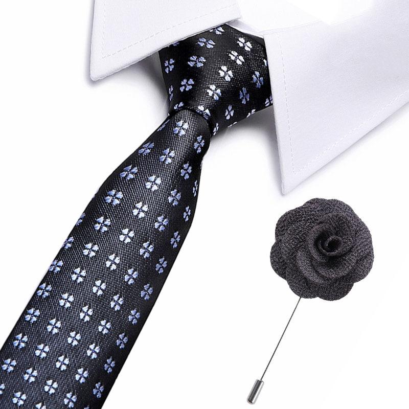 New Style Silk Tie 7.5cm Ties Fluffy Streak Corbata Slim Floral Necktie Cravat Clothing A