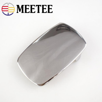 Meetee 79*49mm Solid Stainless Steel Belt Buckles Metal Cowboy Waistband Head for Men Jeans 40mm Belts Leather Craft Accessories