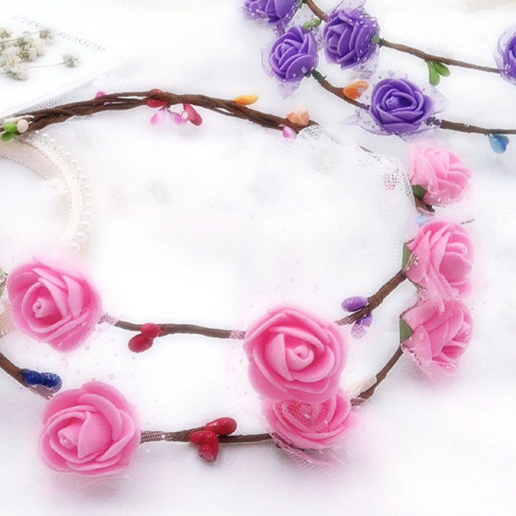 Handmade Garland Headdresses Kindergarten Handmade DIY Kits Children's Educational Toys Spring Accessories Bracelets
