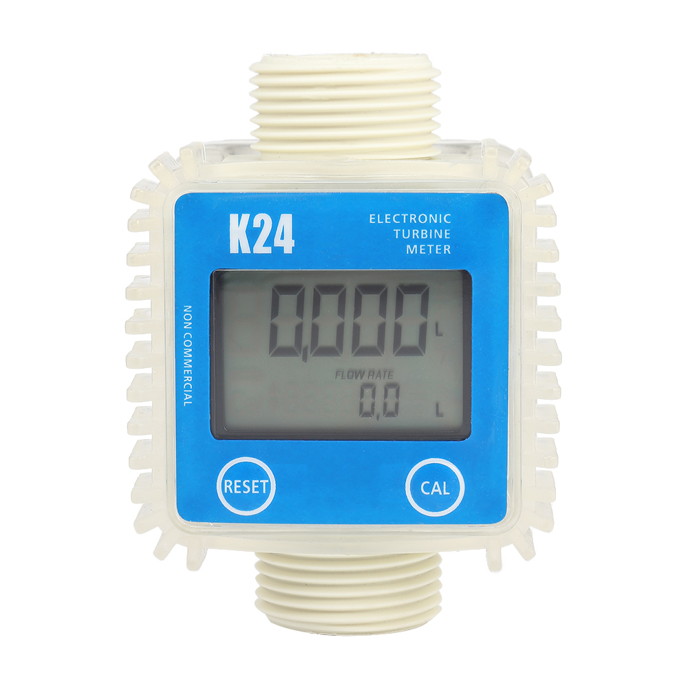 K24 Digital Turbine Flow Meter For Measuring Gasoline Diesel Kerosene Chemical Liquid Water Adjust Liquid Measuring Tools