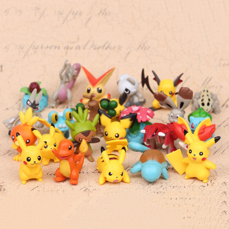144Pcs Different Style Pokemon Mini Figures Model Collection Toys Gift TV Movie