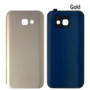 Image 5 - 10Pcs A320 A520 A720 Batterie Glas Abdeckung Ersatz Für Samsung Galaxy A3 A5 A7 2017 Zurück Gehäuse Tür mit klebstoff IMEI Drucken
