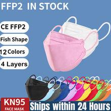 Mascarillas fpp2 homologadas europa mix colores ffp2mask certificado 4 camadas adulto resuable preto peixe kn95 máscara entrega rápida