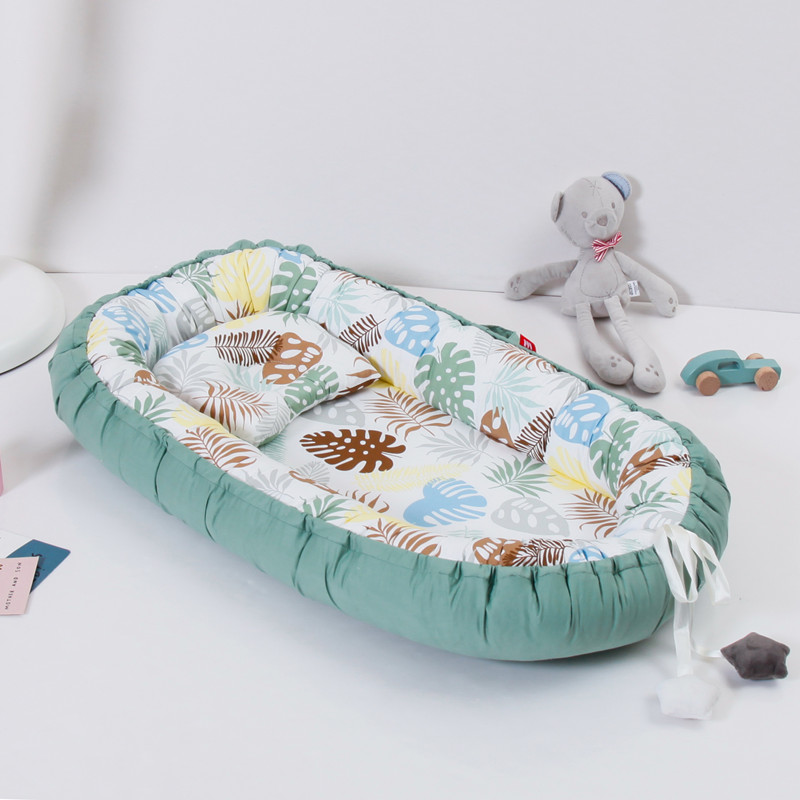 50*85cm Baby Cot Portable Baby Nest With Pillow  Washable Newborn Bed Washable Crib Mattress Removable Travel Baby Crib