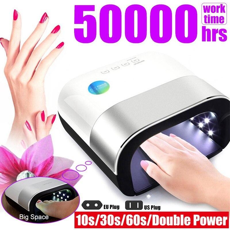 NEW UV Lamp Painless Nail Dryer 48W LED Lamp Nail with Smart Timer Memory Digital Timer Display Nail Drying Machine