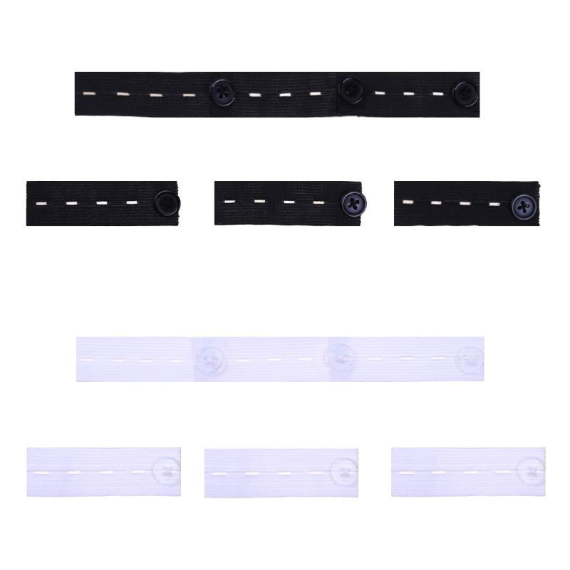 6Pcs/Set Skirt Trousers Jeans Pants Waist Expander Waistband Extender Button Extender Elastic Rubber Band Belt