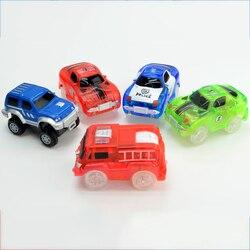 5 leds 5.4cm mágica eletrônica led carro brinquedos com luzes piscando brinquedos educativos para crianças festa de aniversário presente jogar com faixas