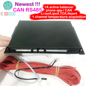 Image 1 - CAN Bus RS485 Protocol Temp 1A 2A Balance Battery Active Equalizer Bluetooth 2S ~ 24S BMS Li ion Lipo Lifepo4 LTO Balancer JK