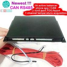 CAN Bus RS485 protokolü sıcaklık 1A 2A batarya aktif ekolayzır Bluetooth 2 ~ 24S BMS Li ion Lipo lifepo4 LTO dengeleyici JK