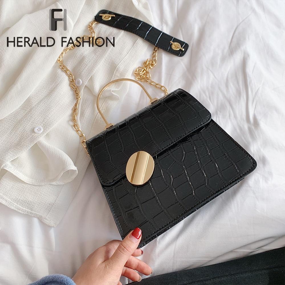 Quality Stone Pattern Leather Crossbody Bags For Women Designer Small Handbags Chain Shoulder Messenger Bag Mini Purses Hand Bag