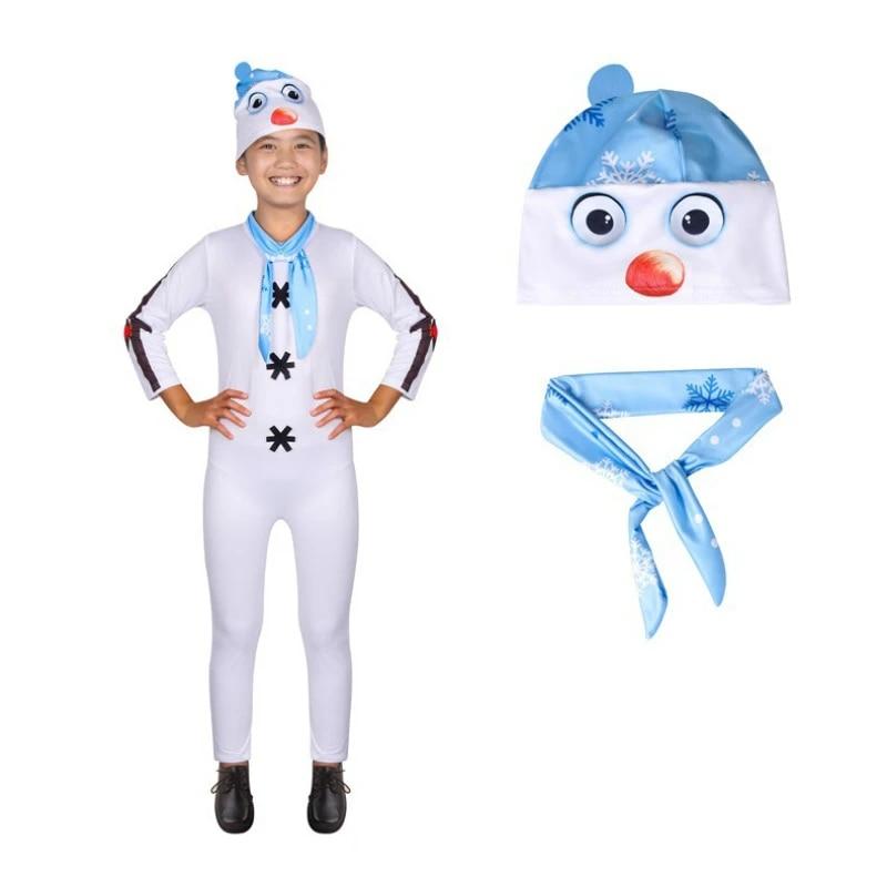 Rabatt Frozen Cosplay Kostüm Olaf Snowman Unisex Weiß T-Shirt Cospaly Karneval