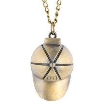 Buy Novel Hat Shape Quartz Pocket Watches Male Metal Case Necklace Chain Pendant Watch Kids Christmas Gift reloj de bolsillo hombre directly from merchant!