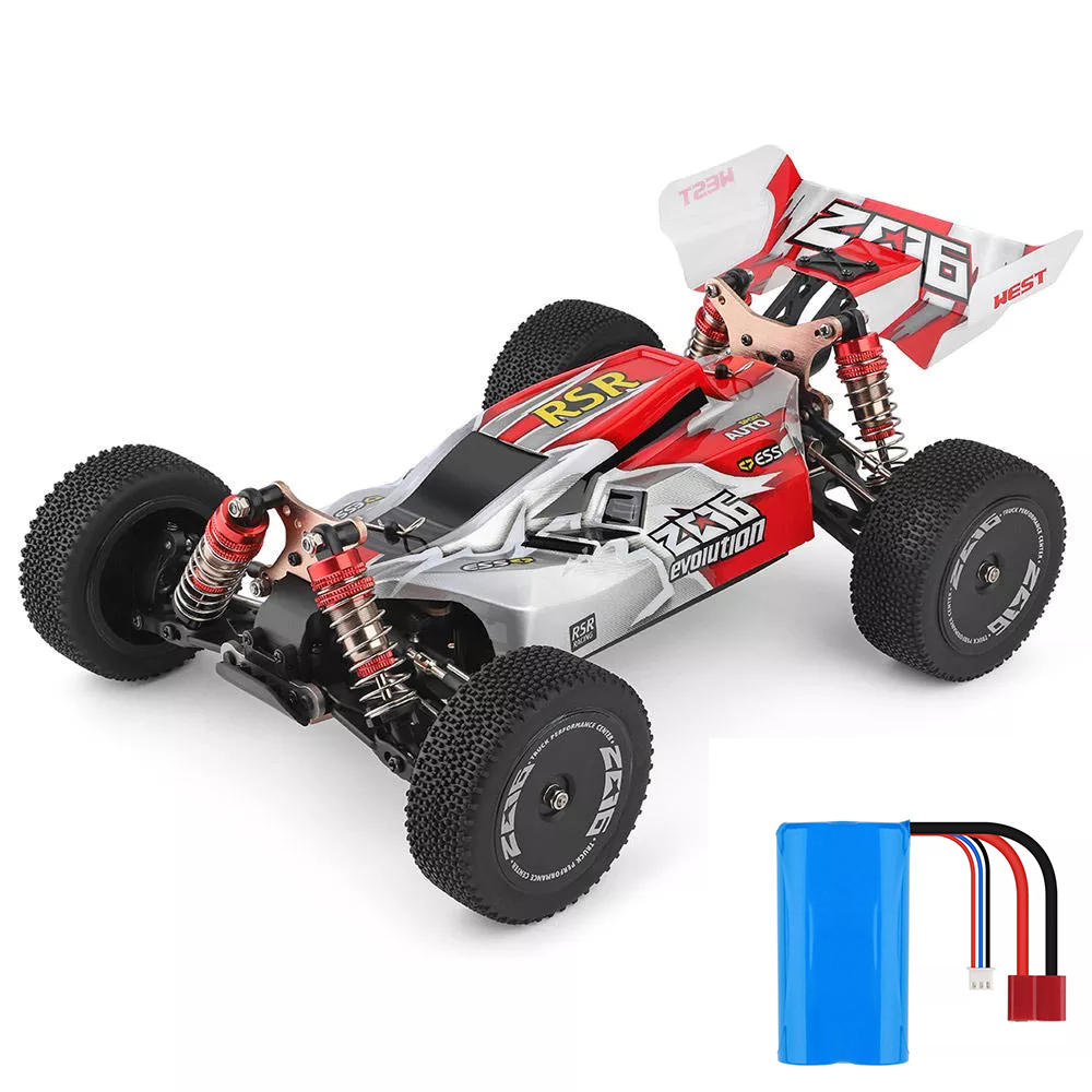 WLtoys 1/14 144001 RTR 2.4GHz RC Car Scale Drift Racing Car 4WD Metal Chassis Hydraulic Shock Absober Off-Road Vehicle Toy image