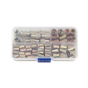 Image 5 - 100PCSเหล็กคาร์บอน/อลูมิเนียมRivet Nuts M3 M4 M5 M6 M8 Flat Head Rivet Nutsชุดใส่Rivetsหลายขนาด